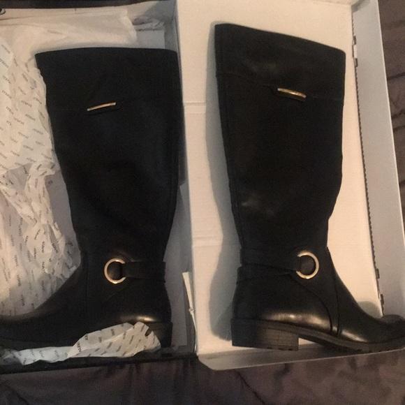 71c7dba133d Alfani Wide Calf knee high black boots. 7.5